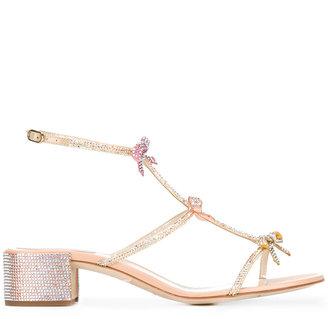 René Caovilla bow embellished sandals $1,209 thestylecure.com