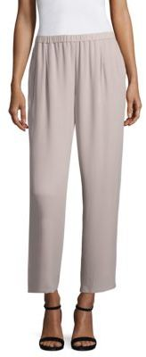 Eileen Fisher Silk Straight-Leg Ankle Pants $258 thestylecure.com