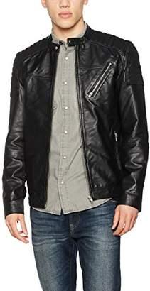 9fa7dfc38320 Leather Uk Shopstyle Jacket Jack Jones Bwvzz