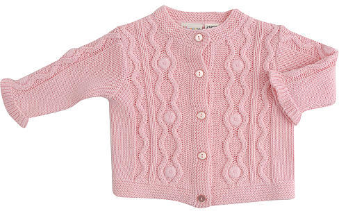 Babies R Us Cynthia Rowley Cozy Knit Cardigan Sweater - Pink (0-3 Months)