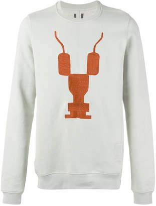 Rick Owens print front sweatshirt