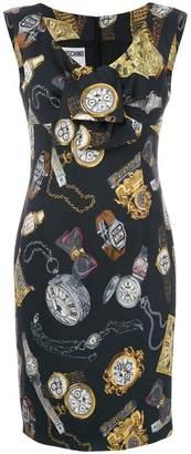 Moschino clock print dress