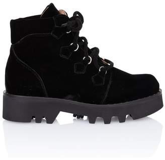 Tabitha Simmons Neir Black Velvet Ankle Boot