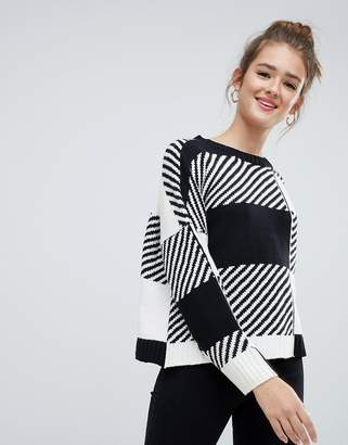 Only mixed print knitted sweater