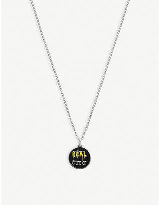Gucci GucciGhost sterling silver necklace