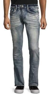 Whiskered Denim Pants