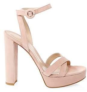 Gianvito Rossi Women's Poppy Suede Platform Sandals