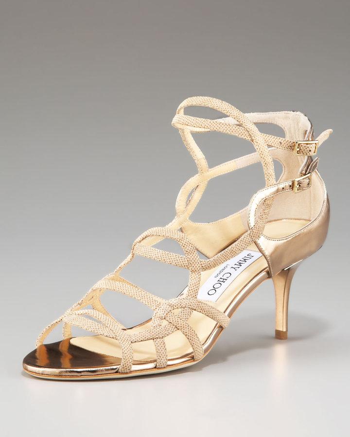 Jimmy Choo Baden Strappy Low-Heel Sandal