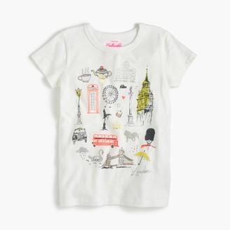 "Girls' ""London"" destination art T-shirt $36.50 thestylecure.com"