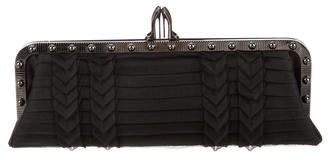 Christian Louboutin Christian Louboutin Louvicious Pleated Crepe Clutch