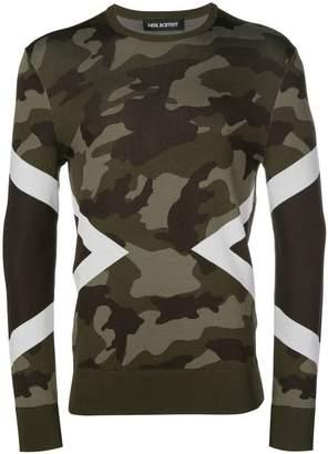 Neil Barrett camouflage pattern sweatshirt