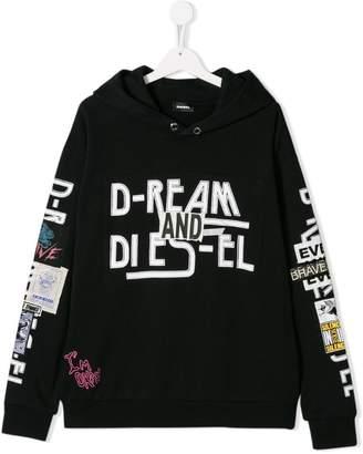 Diesel printed hooded sweatshirt
