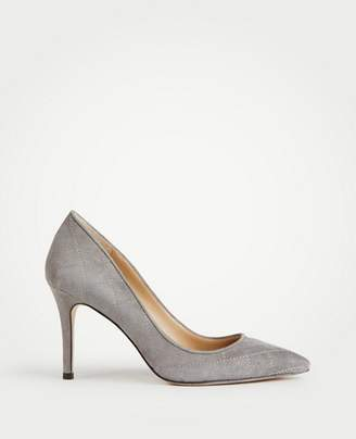 Ann Taylor Luisa Quilted Suede Pumps