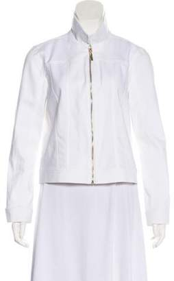 Ellen Tracy Stand Collar Casual Jacket