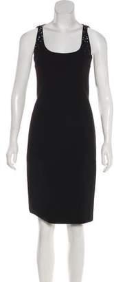 Akris Punto Embellished Sleeveless Dress