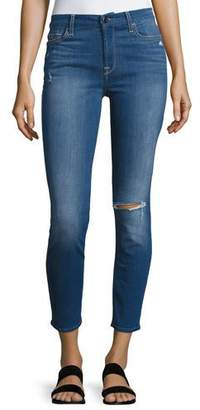 7 For All Mankind Jen7 by Riche Touch Mediterranean Blue Skinny Ankle Jeans