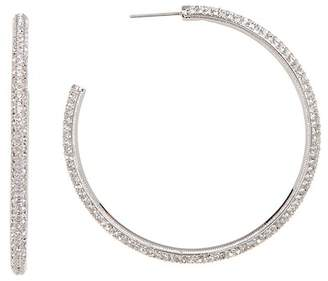 Nadri Large E Pave 50mm Hoop Earrings
