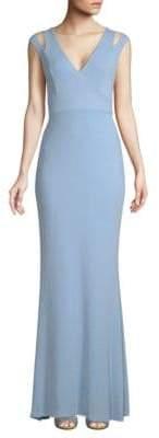 Calvin Klein Cutout Cap Sleeve Gown