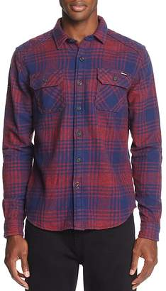 Superdry Milled Flannel Long Sleeve Button-Down Shirt