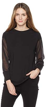 Painted Heart Women's Mesh-Sleeve Raglan Top