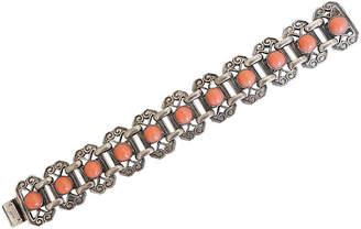 One Kings Lane Vintage Napier Faux-Coral Cabochon Bracelet