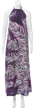 Tome Printed Halter Maxi Dress
