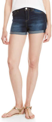 YMI Jeanswear Roll Cuff High-Waisted Shorts