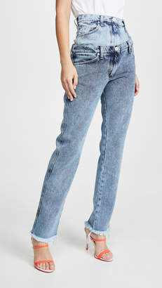 Natasha Zinko Double Waist Asymmetric Jeans