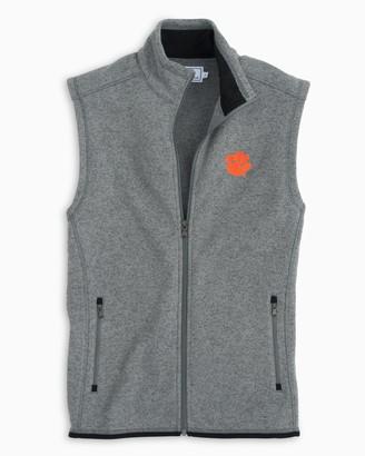 Southern Tide Gameday Sweater Fleece Vest - Clemson University