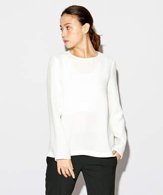 Calvin Klein (カルバン クライン) - Calvin Klein women 【17SS】【洗える】スプリングシルク ブラウス(C)FDB