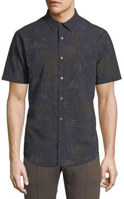 Vince Men's Pineapple Tropical-Print Short-Sleeve Sport Shirt