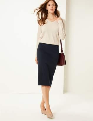 Marks and Spencer Pencil Midi Skirt