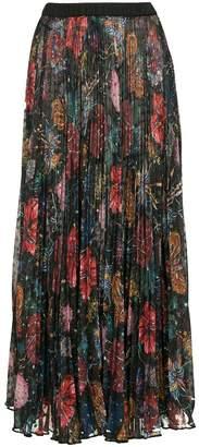 Romance Was Born wildflower pleat skirt