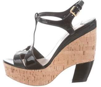 Miu Miu Patent Leather Platform Sandals
