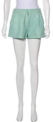 Proenza Schouler Leather Mini Shorts