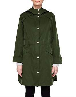 Ted Baker Jaylene Hooded Khaki Jacket