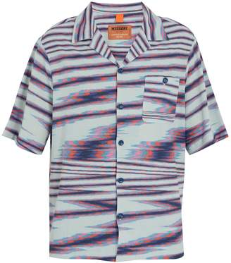 Missoni Striped camp-collar fine-knit cotton shirt