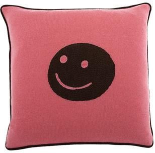 Armand Diradourian Smiley Face Pillow- Pink