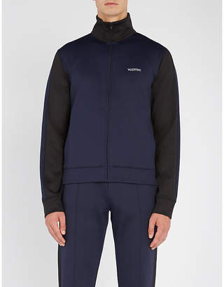 Valentino Two-tone jersey track jacket