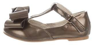 Joyfolie Girls' Bow-Accented T-Strap Flats