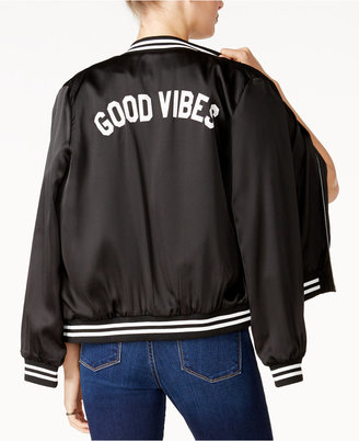 Sub_Urban Riot Good Vibes Graphic Bomber Jacket $98 thestylecure.com