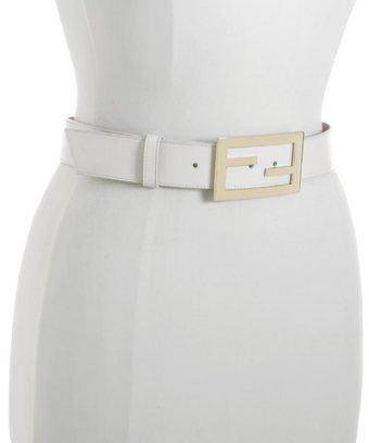 Fendi bone white leather '4Ever' belt