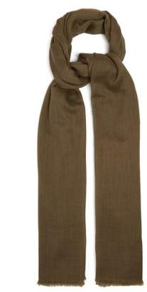 Denis Colomb Nomad Woven Cashmere Scarf - Womens - Khaki