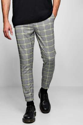 boohoo Smart Check Cropped Jogger