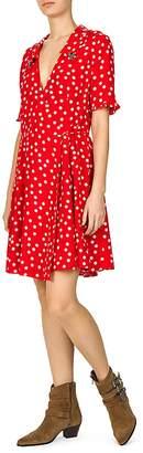 The Kooples Magic Mushroom Polka Dot Wrap Dress