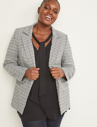 Lane Bryant Bryant Blazer - Plaid Sexy Stretch