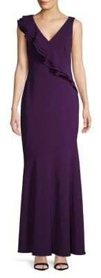 Lauren Ralph Lauren Sleeveless Ruffle Gown