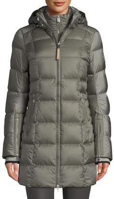 Bogner Rose Down-Filled Puffer Coat w/ Detachable Hood