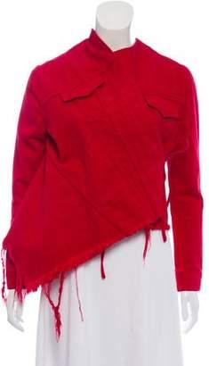 Marques Almeida Marques'Almeida Asymmetrical Denim Jacket