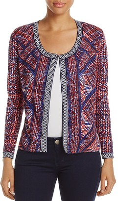 NIC and ZOE Picasso Graphic Print Cardigan $138 thestylecure.com